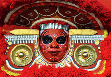 Theyyam. Dance Makeup, Kerala, India Royalty Free Stock Image