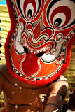 Theyyam faces. Mask of a Theyyam erformer. Theyyam is a unique dance form of north Kerala in India Royalty Free Stock Photo
