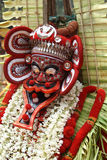 Theyyam faces. Ornamental costumes of theyyam dance performer. theyyam is a unique dance form of north Kerala in India Stock Images