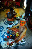 Theyyam is a ritualistic folk art form of Kerala Stock Photo