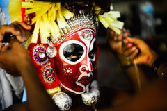Theyyam is a ritualistic folk art form of Kerala Royalty Free Stock Photos