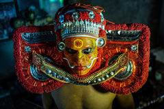 Theyyam is a ritualistic folk art form of Kerala Royalty Free Stock Photo