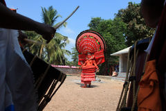 Theyyam ritualistic ludowa sztuka Obraz Stock