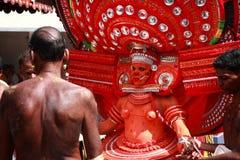 Theyyam ritualistic ludowa sztuka Zdjęcie Stock