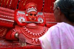 Theyyam ritualistic ludowa sztuka Zdjęcia Stock
