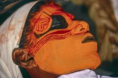 Theyyam Teyyam, Theyam, forma rituale di Theyyattam di culto di Malabar del nord fotografia stock libera da diritti