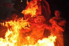 Theyyam występ zdjęcie royalty free