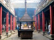 Thiên Hậu Temple. A big burner with incense burners in the courtyard of Thiên Hậu Temple (Saigon, Vietnam Stock Images