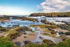 Antrim Coast shore stock images