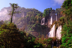 Thi Lo Su, the biggest waterfall in Thialand Stock Photography
