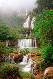 Thi Lo Su, the biggest waterfall in Thialand Stock Image