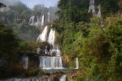 Thi Lo Su Water Fall Arkivfoto