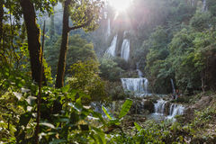 Thi Lor Su Waterfall in Tak Province in Northwestern Thailand Stock Image