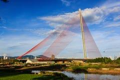 thi ly Danang Tran Кабел-оставать-моста Стоковая Фотография RF