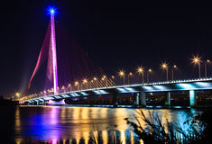 thi Ly Tran Кабел-оставать-моста - Da nang-Вьетнам Стоковые Фото