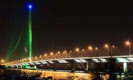 thi Ly Tran Кабел-оставать-моста - Da nang-Вьетнам Стоковое Фото