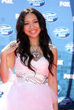 Thia Megia. LOS ANGELES - MAY 25:  Thia Megia arriving at the 2011 American Idol Finale at Nokia Theater at LA Live on May 25, 2010 in Los Angeles, CA Royalty Free Stock Photography