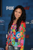 Thia Megia. LOS ANGELES -  3: Thia Megia arrives at the American Idol Season 10 FInalists Party at The Grove on March 3, 2011 in Los Angeles, CA Royalty Free Stock Photography