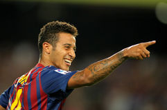 Thiago Alcantara of Barcelona Stock Photo