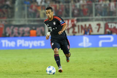 Thiago Alcantara during the UEFA Champions League game between O. Athens, Greece- September 16, 2015: Thiago Alcantara during the UEFA Champions League game stock image