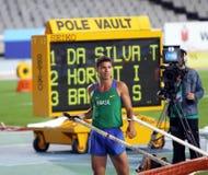 Thiago Braz DA Silva van Brazilië de winnaar stock foto's