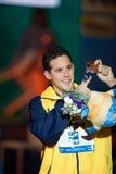 Thiago Pereira ( Brazil). BARCELONA – AUGUST  1:  Thiago Pereira ( Brazil)     in victory cerimonyduring Barcelona FINA World Swimming Championships on August Stock Photo