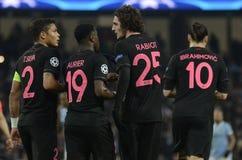 Thiago Silva, Serge Aurier und Adrien Rabiot Stockbild