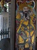 Thian Hock Keng Temple. Door with golden painting in Thian Hock Keng Temple stock image