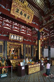 Thian Hock Keng Temple - Singapore. Inside the Thian Hock Keng Chinese Temple in Singapore. The Thian Hock Keng Temple (or Tianfu Gong Temple or Temple of royalty free stock photo