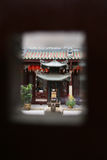 Thian Hock Keng Temple, Singapore. Looking through window of Thian Hock Keng Temple, Singapore stock photography