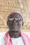 Thiaroye, Senegal, Africa – July 18, 2014: Unidentified Muslim man entering the Grand Mosque Stock Images