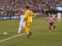 Thibaut Courtois of Real Madrid #13 in action during match against Atletico de Madrid in the 2019 International Champions Cup