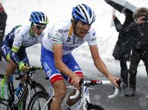 Thibaut Pinot and Adam Yates rise in Terminilo Royalty Free Stock Image