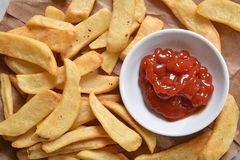Free Thicck French Fries And Catsup Stock Photos - 117766153