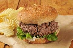 Thich hamburger Royalty Free Stock Photo