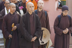 Thich Nhat Hanh at the Mahabodhi Temple, Bodhgaya, India Royalty Free Stock Photography