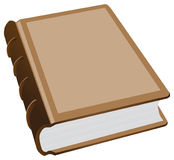 Thick ancient folio. A thick book with a leather binding. Vector illustration Stock Photos
