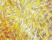Thick animal warm yellow hair texture Stock Images