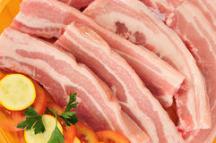 Thick bacon Royalty Free Stock Images