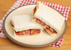 Thick Bacon Sandwich Stock Images