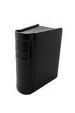 Thick black book. Large black book isolated on white Royalty Free Stock Photo