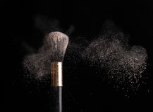 Thick black brush in motion Stock Photography