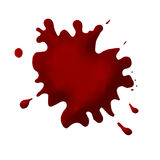 Thick Blood. Splattered from a high angle on canvas Royalty Free Stock Images