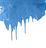Thick blue dripping paint Stock Photography