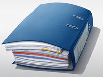 Thick blue file Stock Images