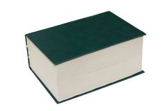 The thick book. The thick green book lays separately on a white background Royalty Free Stock Photos