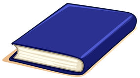 Thick book with blue cover Stock Photography
