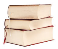 Thick books. Three thick books isolated on white background stock photography