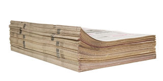 Thick bundle of newspapers Royalty Free Stock Photos