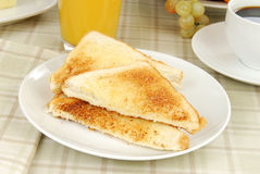 Thick buttered toast Stock Photography